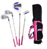 OMG ชุดไม้กอล์ฟเด็ก ผู้หญิง USA Kids Golf Set Junior girl อายุ 3-5 ขวบ ( Pink )